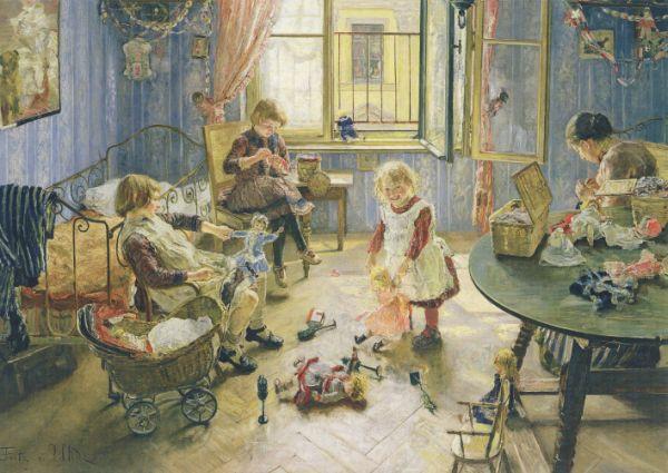 Fritz von Uhde. Kinderstube, 1889